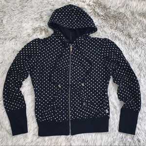 Self Esteem Black Hoodie w/ Gold & Silver Dots